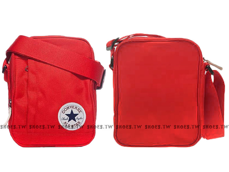Shoestw【10002654600】CONVERSE 側背包 多功能小側包 紅色 男女都適用