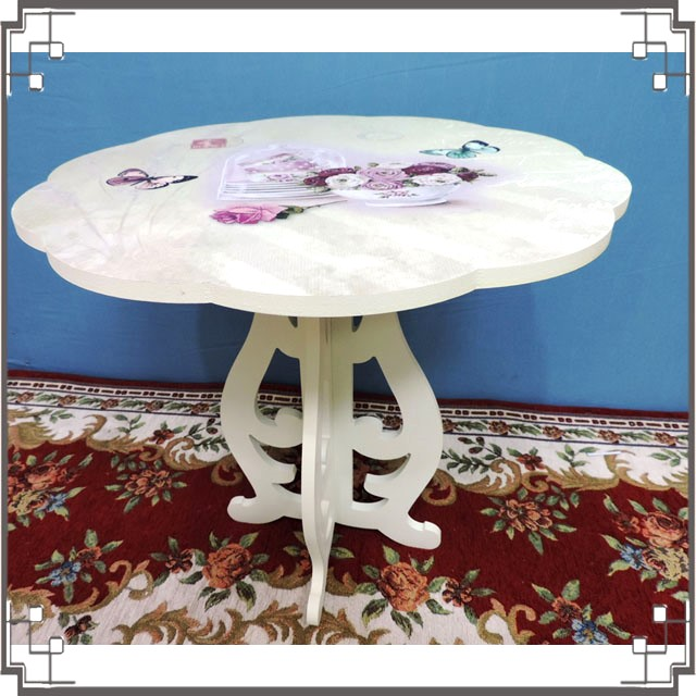 木製小桌子《WT-1鄉村蝴蝶》花朵造型小茶几 小邊桌 小電話桌 床邊桌 居家布置◤彩虹森林◥