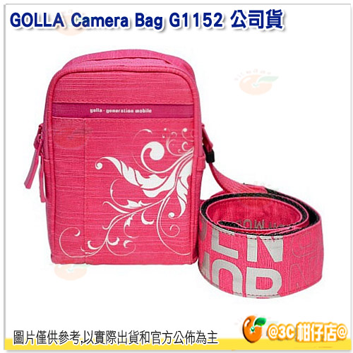 芬蘭時尚 GOLLA G1152 相機萬用包 公司貨 攝影包 附相機背帶 繽紛粉 粉紅色 XS 輕巧方便
