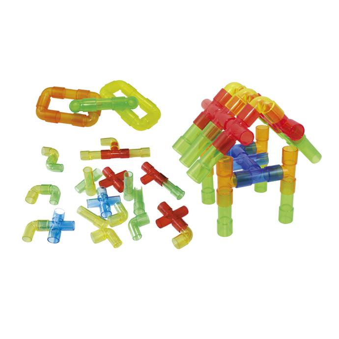 【華森葳兒童教玩具】建構積木系列-透明水管 E10-B60