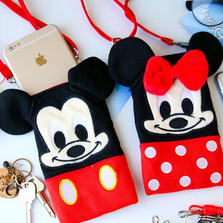 正版迪士尼造型手機包 迪士尼 米妮 米奇 手機袋 收納包 隨身包 手機套 iPhone 6 Plus 【B089115】