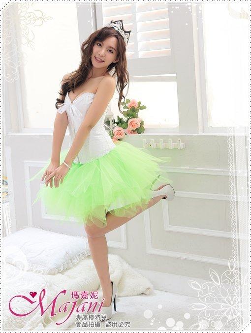 [瑪嘉妮Majani]日系中大尺碼-甜美澎澎裙 蓬蓬裙 舞台表演 尾牙 A款(青綠色)特價389 可超取