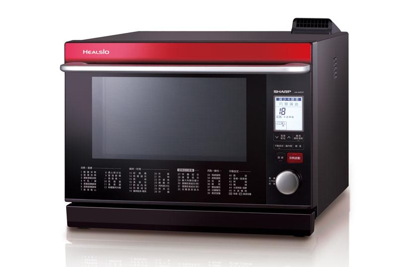 SHARP 夏普 31L HEALSIO水波爐 AX-WP5T/R(番茄紅) /日本製/過熱水蒸氣技術/全程零微波
