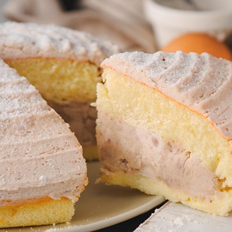 【免運費】重芋泥波士頓/蛋糕6吋-嚴選大甲新鮮芋頭慢火蒸熟,製成香濃芋泥餡+低糖芋泥丁口感香醇濃郁~~~~