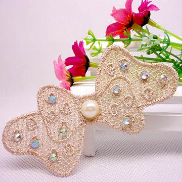 WallFree窩自在 鏤空蕾絲/珍珠/鑲鑽魔法瀏海貼片-貼鑽蕾絲38