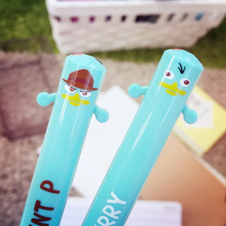 PGS7 日本迪士尼系列商品 - 泰瑞 造型 雙色原子筆 原子筆 雙色筆 筆 特務p 飛哥與小佛