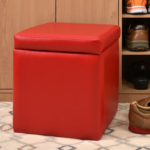 【尚優家居】吉尼爾收納椅/儲藏椅/玄關椅/掀蓋椅 (紅色)