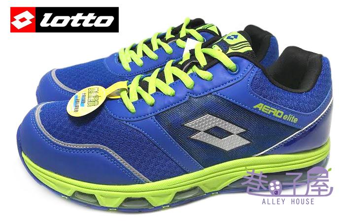 【巷子屋】義大利第一品牌-LOTTO 男款AERO elite頂級雙重避震全氣墊跑鞋 [2546] 藍 超值價$690