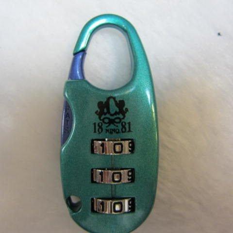 ~雪黛屋~美國18NINO81智慧型密碼鎖...行李箱,任何袋類物品均可使用 專櫃品牌台灣製造 綠