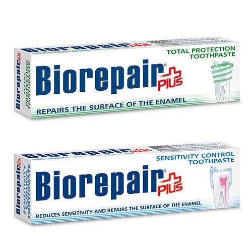 《買三送一》 Biorepair plus 貝利達 牙膏抗敏/抗菌加強型 100ml   【義大利原裝進口】