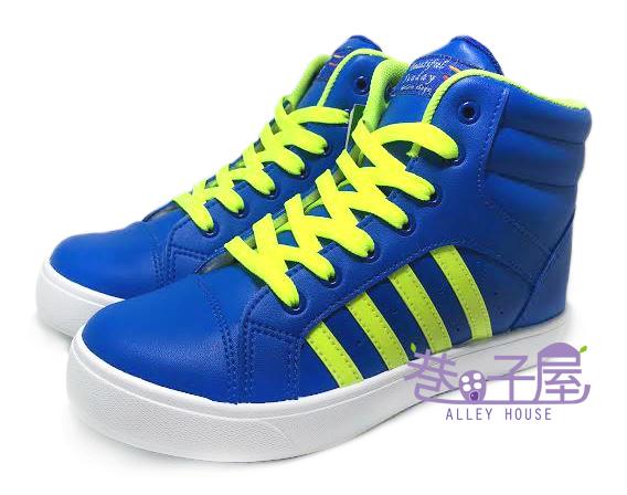 【巷子屋】女款經典小心機內增高運動休閒鞋 5cm [18039] 藍 MIT台灣製造 超值價$298