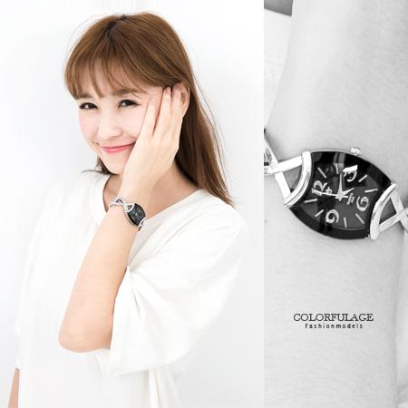 手錶 氣質女孩酒桶造型交叉鏤空手環式設計腕錶 女孩專屬 贈禮盒 柒彩年代【NE1564】單支售價