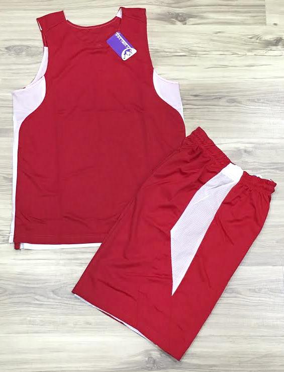【巷子屋】FEARLESS 男款專業吸濕快乾雙面籃球球衣 比賽服 運動服 [FM25] 紅白 MIT台灣製造 超值價$238