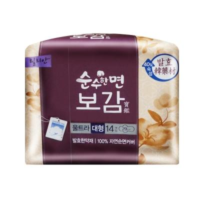 韓國秀智代言-莉蓮漢方衛生棉(29cm/14片) K802