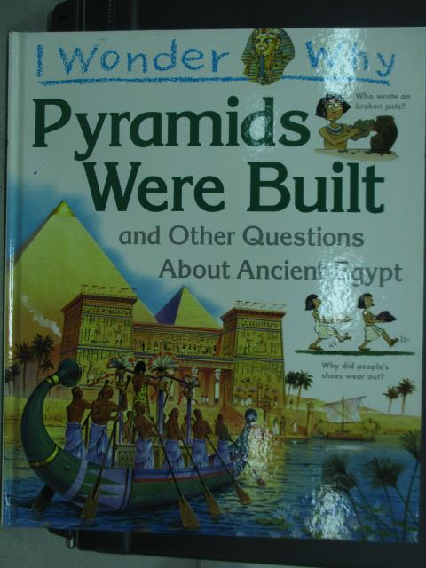 【書寶二手書T2/少年童書_QEU】I wonder why_pyramids were built_1995