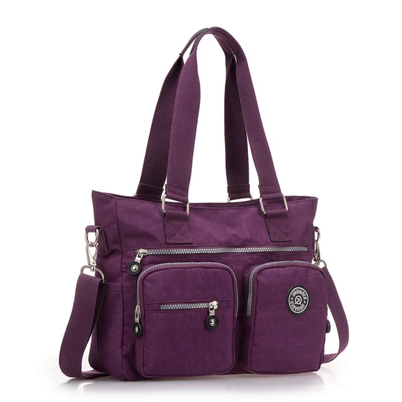 超輕防水尼龍材質 手提包 肩背包 前拉鍊口袋 媽媽包 旅行休閒首選冠軍包款#NY12