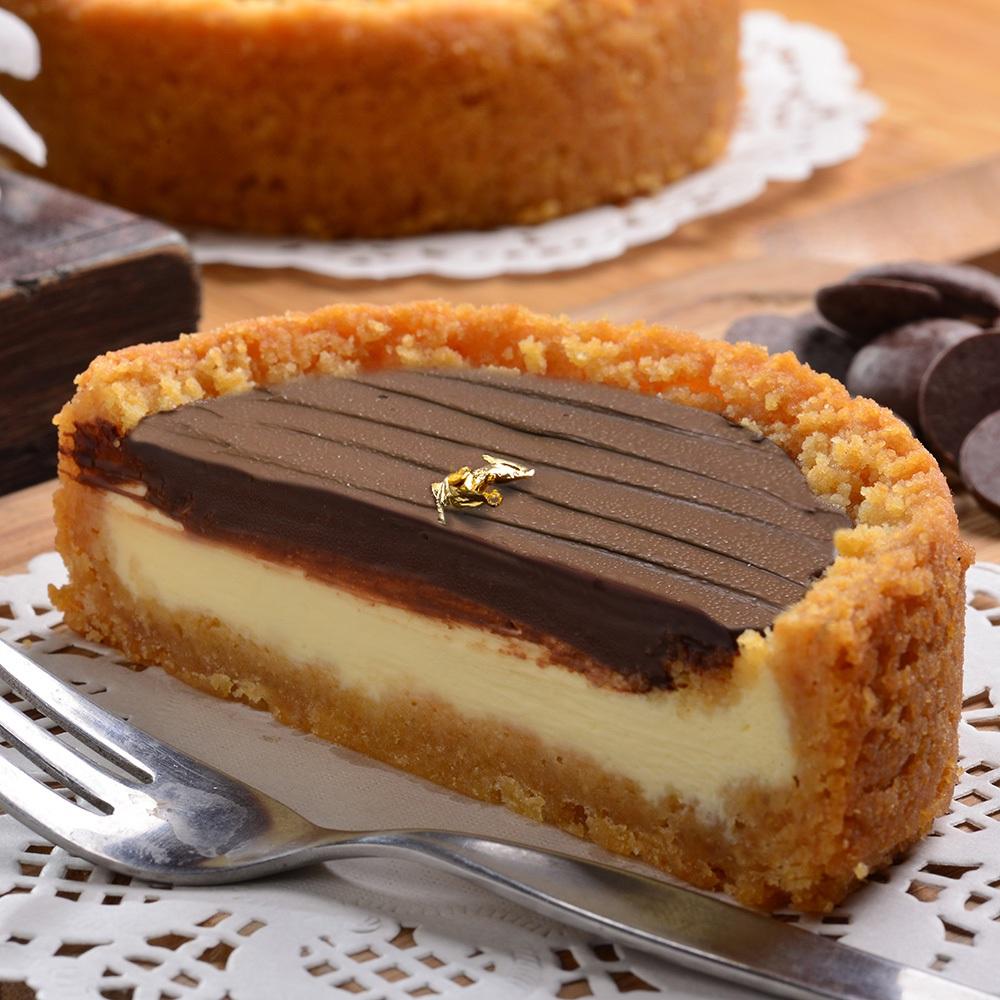 【艾波索.比利時巧克力乳酪4吋】美食按個讚推薦! 使用法國進口米歇爾82%巧克力,搭配日本北海道乳酪×紐西蘭頂級乳酪完美比例融合的無限乳酪[彌月、團購、伴手禮首選]