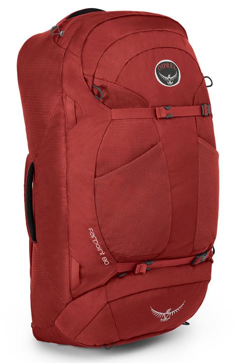 【鄉野情戶外專業】 Osprey |美國|  Farpoint80 自助旅行背包/多功能自助行背包-寶石紅M/L/Farpoint 80 【容量80L】