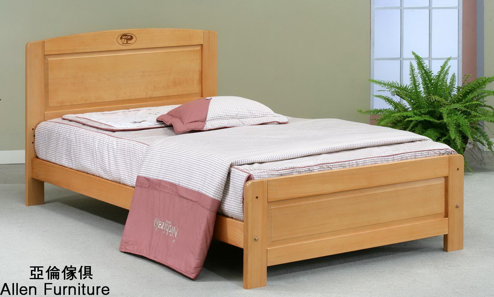 亞倫傢俱*史達琳檜木實木3.5尺單人床架