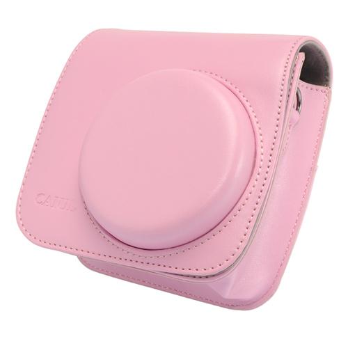 【拍立得配件】Fujifilm instax Mini8 皮質相機包 加蓋 粉色 富士 Kamera 皮套 相機殼