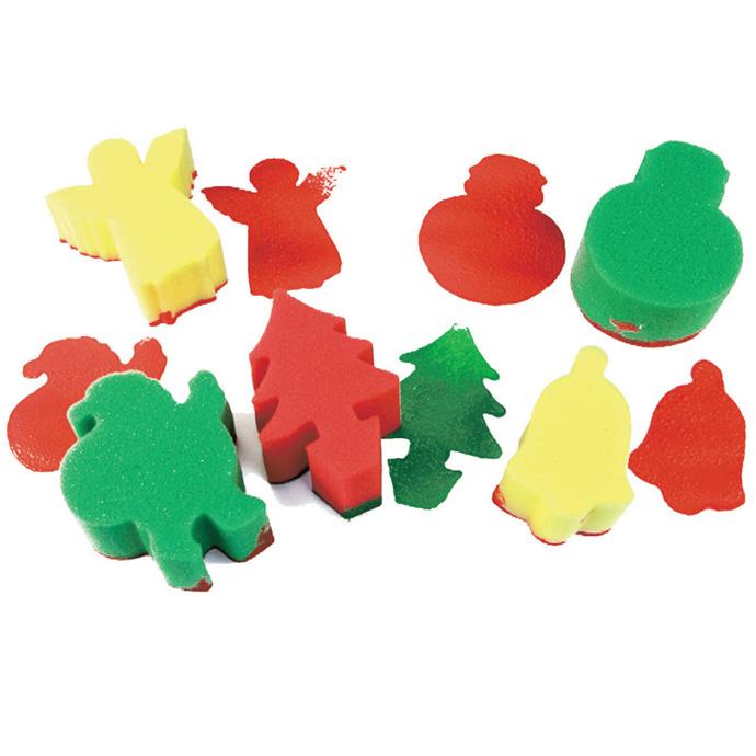 【華森葳兒童教玩具】美育教具系列-海綿印章-聖誕主題 L1-AP/015/SPX