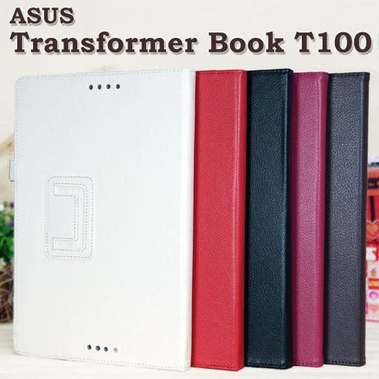 【斜立、側掀】華碩 ASUS Transformer Book T100 / T100TA 荔枝紋皮套/筆記本式保護套/書本式翻頁/立架展示/帶筆插