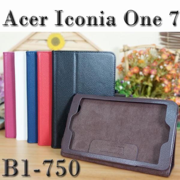 【斜立】宏碁 Acer Iconia One 7 B1-750 專用平板 荔枝紋皮套/側掀展示保護套/帶筆插