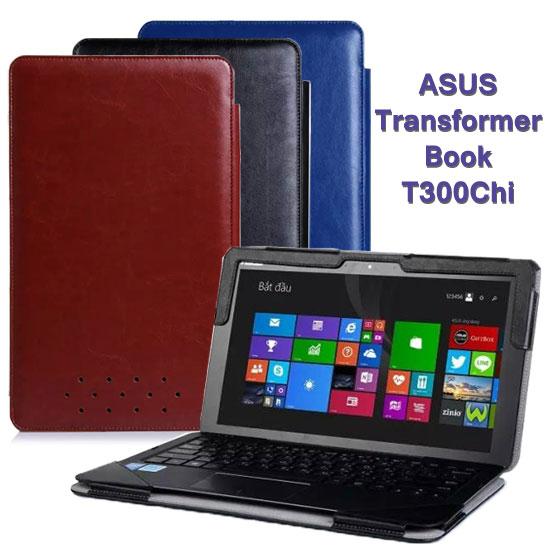 【全機+基座保護套】華碩 ASUS Transformer Book T300Chi 專用皮套/帶鍵盤書本式保護套/變形平板筆記型電腦