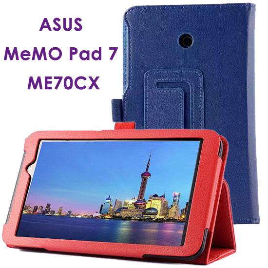 【斜立、帶筆插】華碩 ASUS MeMO Pad 7 ME70CX 專用平板 K01A 荔枝紋皮套/書本式側掀保護套/支架展示