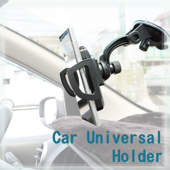 【4 ~ 10cm、顯微鏡式萬用車架】手機支架/吸盤式車上固定架/手機架/車用支架/展示固定架 Max 6.4 吋