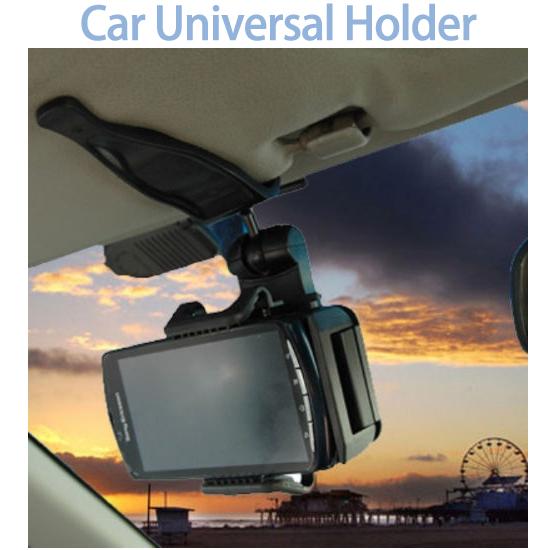 【5 ~ 10cm】萬用手機遮陽板車架/吸盤式車上固定架/手機架/車用支架/展示固定架 Max 6.4 吋