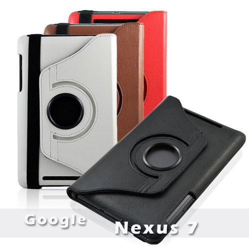 【清倉拍賣】華碩 ASUS Google Nexus 7 布紋 荔枝紋 旋轉斜立保護皮套/筆記本式旋轉保護套/翻頁式手拿包