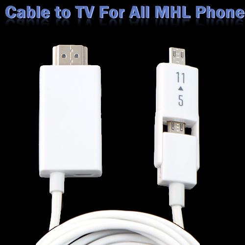 【雙頭 MHL HDMI視訊轉換線】Samsung Galaxy S3 i9300/Note 2 N7100/S4 i9500/Note 3 N900 N9000 HDTV 影音視訊轉接線