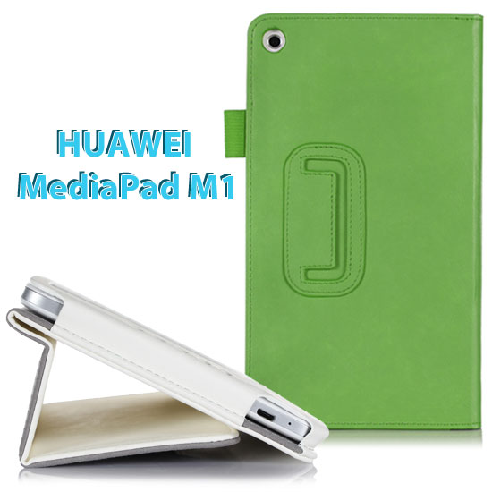【手托、帶筆插】華為 HUAWEI MediaPad M1 8.0 專用平板 牛皮紋筆記本保護皮套/書本式翻頁/斜立展示/可手持