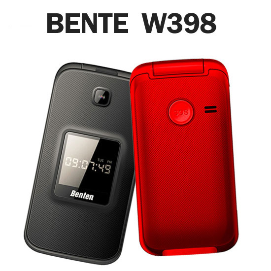 Benten W398 雙模 WCDMA+GSM 摺疊掀蓋式手機 (簡配/聯強公司貨) 長輩/銀髮族/老人機