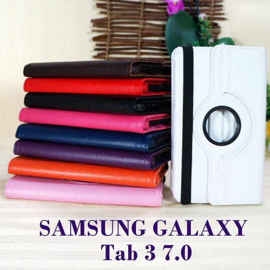 【旋轉、斜立】三星 SAMSUNG GALAXY Tab3 7.0 P3200/P3210 T2100/T2110 平板 荔枝紋皮套/書本式側掀保護套/支架展示