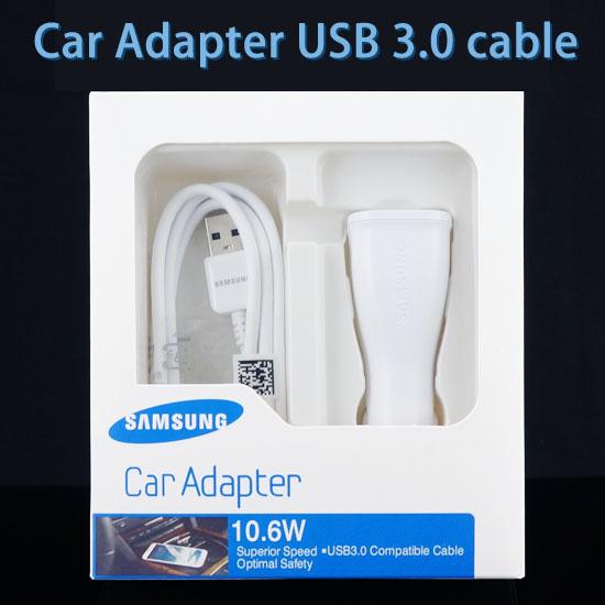 【10.6W、USB 3.0 原廠車充組】三星 SAMSUNG Galaxy Note 3 SM-N900/N9000/N9005/N9003/S5 i9600/G900i/Round G910S  原廠車用充電器+原廠傳輸線