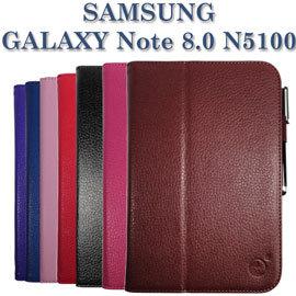 【側掀、斜立】三星 Samsung Galaxy Note 8.0 GT-N5100/N5110 專用 荔枝紋保護皮套/書本式翻頁皮套/保護套