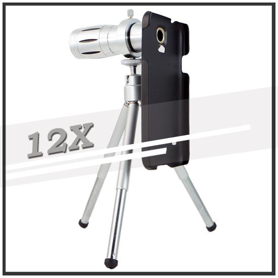 【12倍變焦‧可伸縮‧含背蓋】三星 SAMSUNG Galaxy S5 i9600/G900i  手機長鏡頭/光學變焦鏡頭/手機用