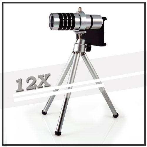 【12倍變焦‧可伸縮‧含背蓋】Apple iPhone 4 手機長鏡頭/光學變焦鏡頭/手機用/望遠鏡頭-預購商品