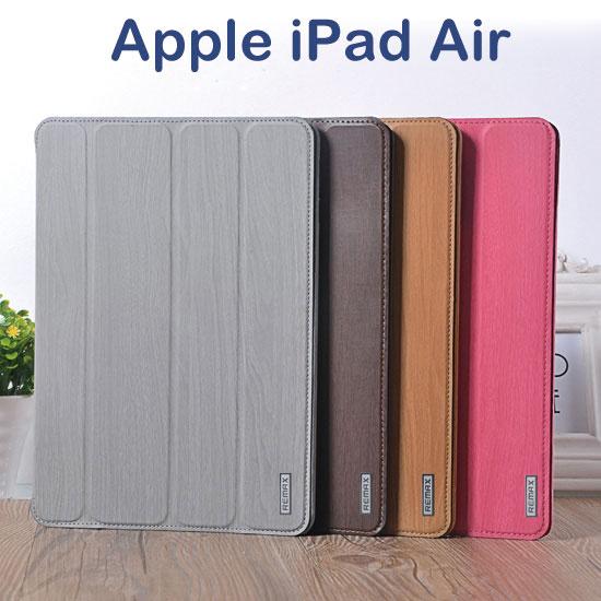 【REMAX】Apple iPad Air iPad 5 專用平板原木紋皮套/書本翻頁式保護套/保護殼/可手持立架斜立展示/A1474/A1475/A1476