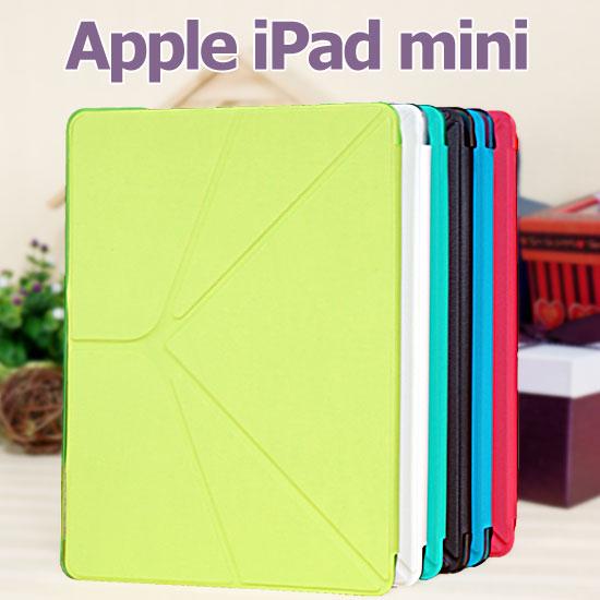 【變形、斜立】Apple iPad mini1/mini2 Retina/mini 3 變形透明殼皮套/書本翻頁式保護套/保護殼/立架展示斜立【限量出清】