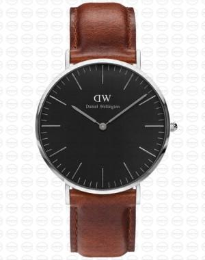 40MM 0130DW 黑錶面 真皮咖啡錶帶 瑞典正品代購 Daniel Wellington 男錶手錶腕錶