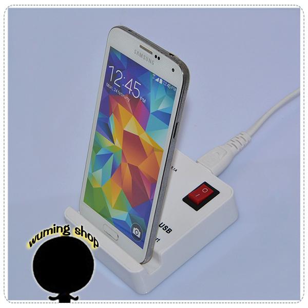 『無名』 4Port USB 開關 充電器 HUB 集線器 插座型 分線器 iPhone Sony HTC J09104