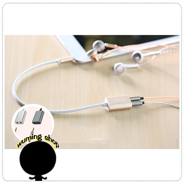 『無名』 一轉二 耳機 麥克風 鍍金 轉接線 筆記型電腦 音源 筆電 耳麥 耳機線 分線線 情侶線 J12119