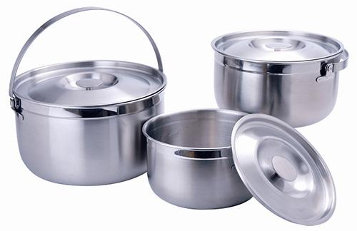 【RV運動家族】Dashiang 三件式隨行不銹鋼鍋具組16/18/22cm