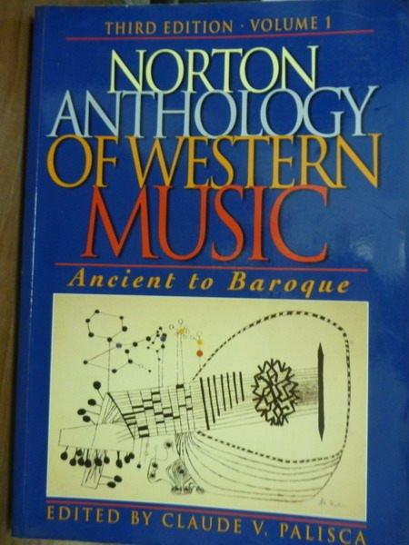 【書寶二手書T4/音樂_QFP】Norton Ant…Western Music:Volume1_3/e