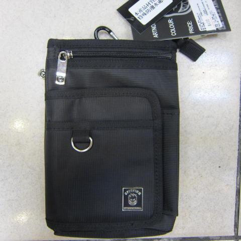 ~雪黛屋~SPITFIRE 外掛式腰包7.5寸防水尼龍布材質隨身物品專用包工作袋可肩背斜側可穿過皮帶多功能#2998