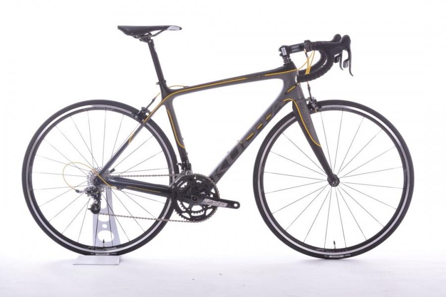 【7號公園自行車】KUOTA KOBALT 入門碳纖公路車 消光黑黃