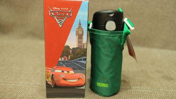 Thermos膳魔師F4012CR6 CARS 麥坤不銹鋼真空保冷瓶(附備用吸管組揹袋)【公司貨】